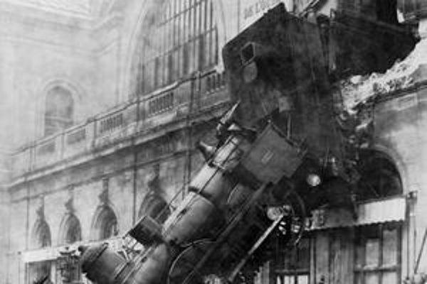 Slávna fotografia vlakového nešťastia.