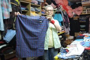 O sociálny šatník sa stará aj dobrovoľníčka Otília Divilková.