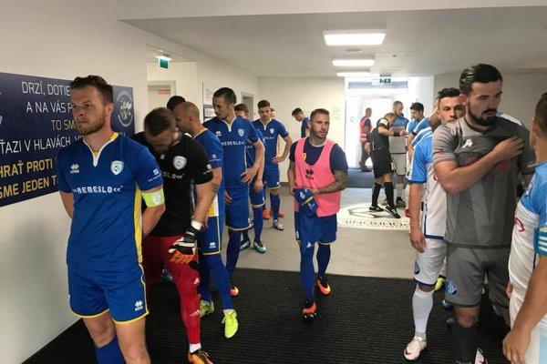 Tesne pred dôležitým zápasom proti Lokomotíve Košice.