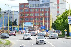 Dočasné nové pruhy na uliciach Solivarská - Východná.