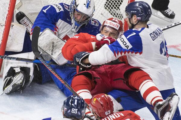 Slováci podľahli Rusku 0:4.