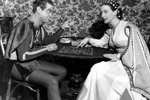 Patricia Morisonová s hercom Alfredom Drakeom v hre Kiss me, Kate.