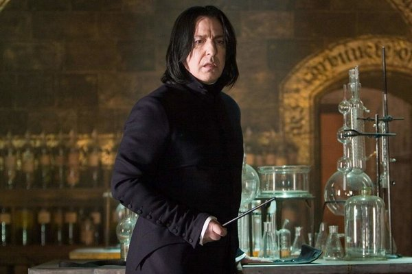Severus Snape. Alan Rickman v čarodejníckej ságe o Harrym Potterovi.