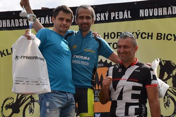 Novohradský pedál: 1. Zoltán Illéš (FTC), 2. Patrick Treger (TREBIS SPORT BIKE), 3. Štefan Krpeľan (Lučenec).