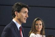 Kanadský premiér Justin Trudeau a ministerka zahraničia Chrystia Freelandová.