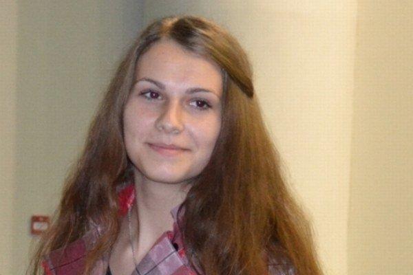 Víťazka 1. miesta Veronika Zbojová zo Spojenej školy v Tvrdošíne.