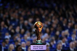 Trofej pre víťaza majstrovstiev sveta vo futbale, ilustračná snímka.