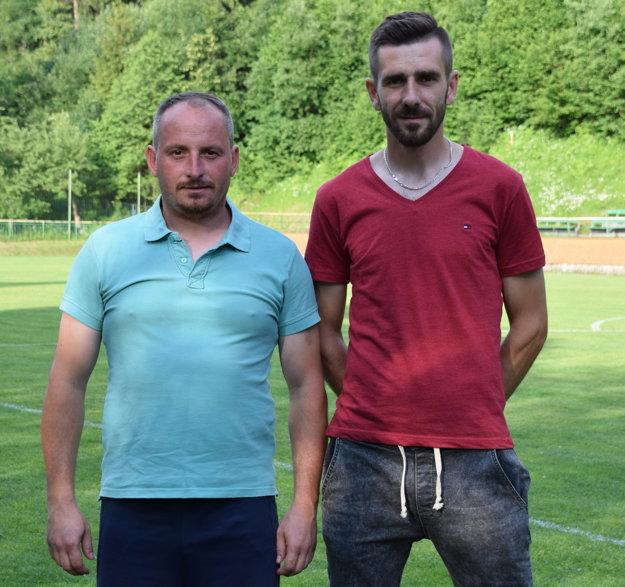 Manažér a tréner mužstva Michal Gončár a kapitán Jaroslav Kučák.