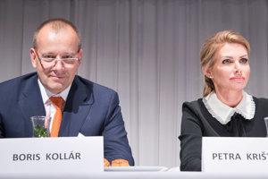 Zľava: Predseda hnutia Boris Kollár a podpredsedníčka hnutia Petra Krištúfková.