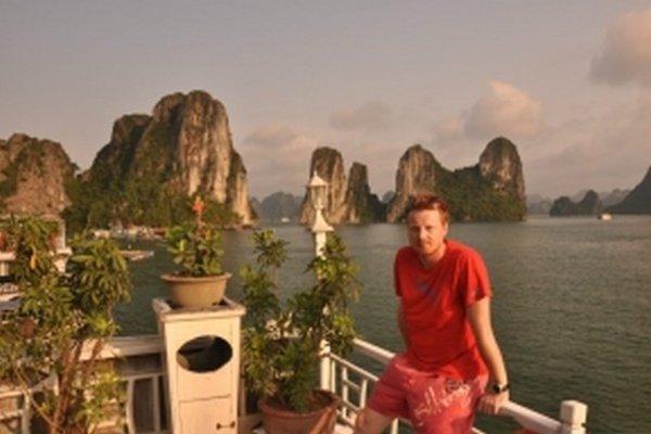 Zátoka Halong Bay vo Vietname.