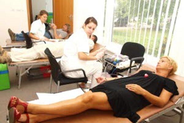 Odberov krvi býva v letných mesiacoch menej.