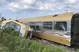 Vykoľajený vlak v Rakúsku.