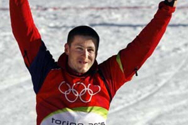 Rado Židek na olympiáde v Turíne.