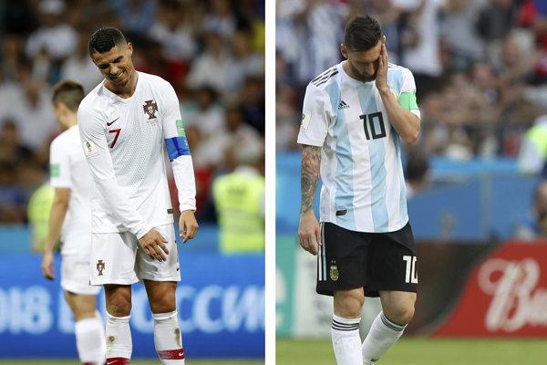 Lionel Messi (vpravo) a Cristiano Ronaldo, najväčšie futbalové hviezdy súčasnosti.