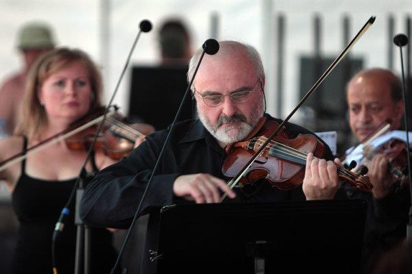 Ewald Danel na koncerte Slovenského komorného orchestra na Pohode 2010.