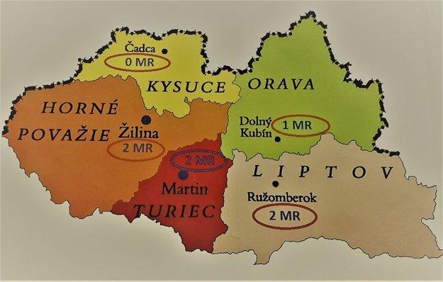 Všetky okolité regióny okrem Kysúc disponujú prístrojom magnetickej rezonancie.