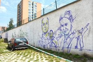 S tvorbou grafiti portrétov športovcov z Furče začali na Lidickom námestí už koncom týždňa.