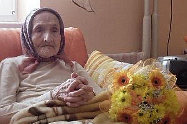 Pani Rozália je najstaršou obyvateľkou Pruského.