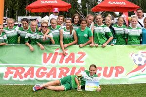 Víťaz kategórie A 15 dievčatá I. FC Tatran Prešov.