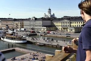 Prezidentský palác v Helsinkách.