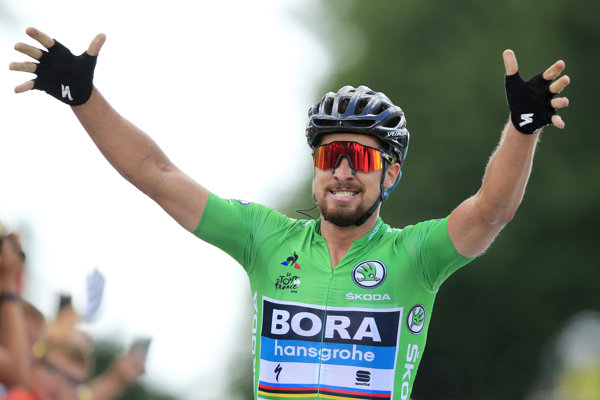 Peter Sagan vyhral 5. etapu Tour de France 2018.