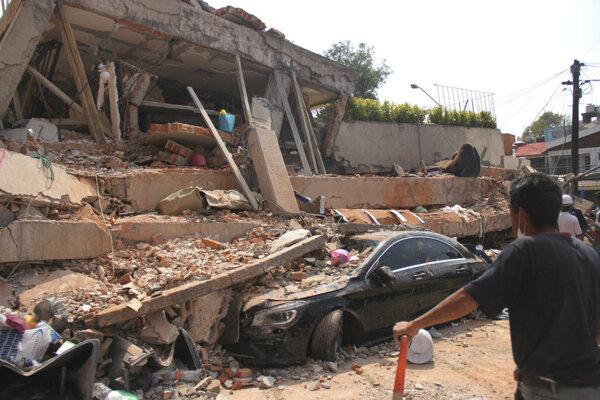 Zemetrasenie v Mexiku spôsobilo obrovské škody.