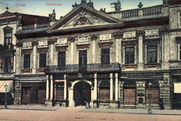 Košická mestská radnica, rok 1916.