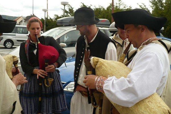 Gajdoši na festivale Gajdovačka v Oravskej Polhore.