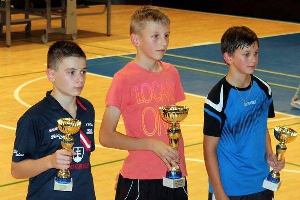 Dalibor Diko (v strede) už vyhral dva turnaje Slovenského pohára.