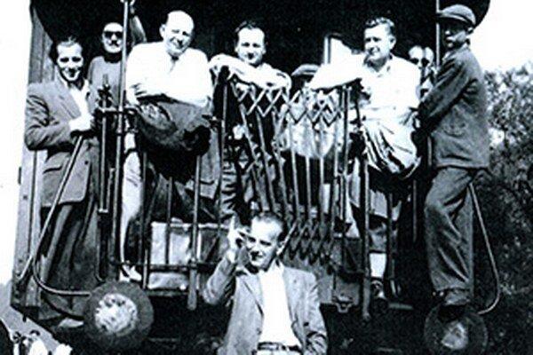 Rok 1950, cestou na stavbu Oravskej priehrady