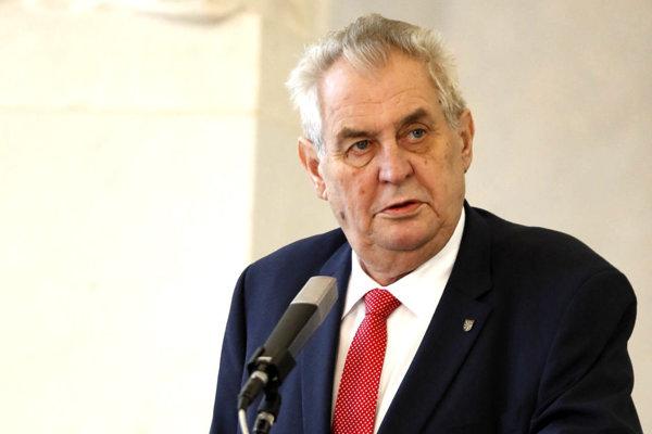 Prezident Českej republiky Miloš Zeman.