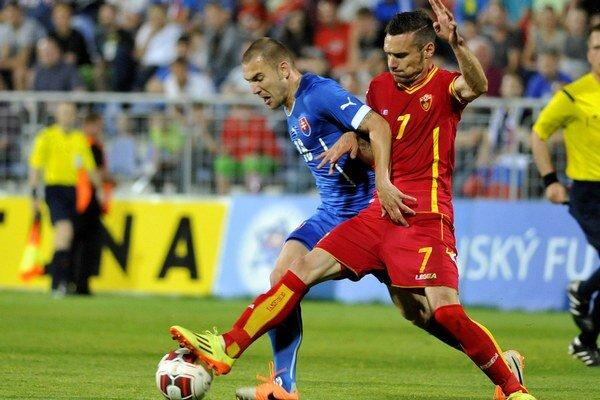 Erik Jendrišek spečatil slovenské víťazstvo 2:0 proti Čiernej Hore.