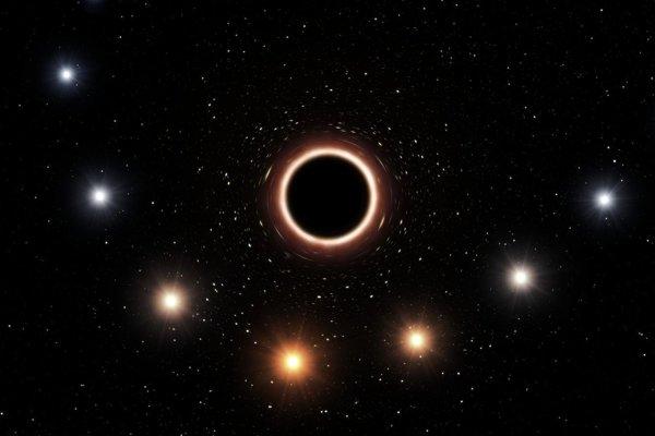 Umelecké zobrazenie prechodu hviezdy S2 v blízkosti čiernej diery v strede Mliečnej cesty a zmeny jej svetla.