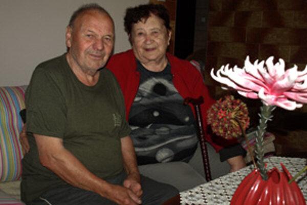 Manželia Mária a Zdeněk Vokáloví oslávili v piatok diamantové výročie sobáša.