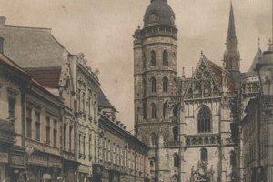 Dnešná Alžbetina ulica, kedysi ulica Ferenca Deáka.