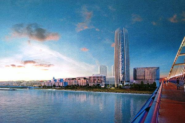 Dominantou štvrte by mal byť prvý mrakodrap na Slovensku a ak sa naplní predložená vízia, celú štvrť prepojí so zvyškom mesta električka.
