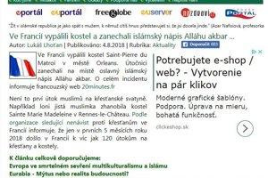 Eurabia - nacionalistické polopravdy a kopa reklamy.