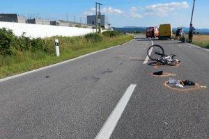 Zvyšky bicykla po nehode.