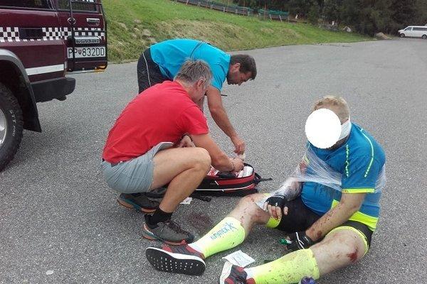 Zranený cyklista