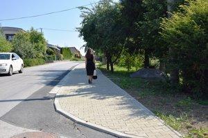 Nový chodník v Budatíne.