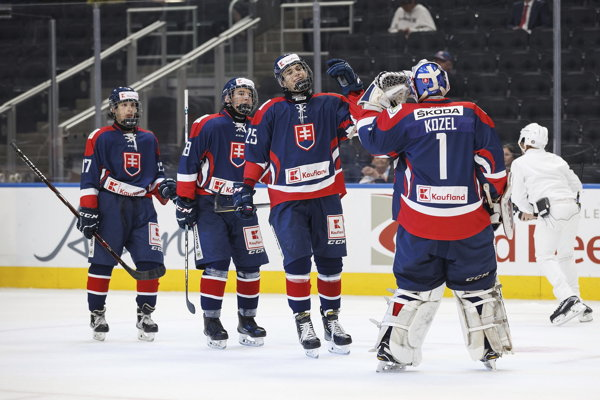 Slovenskí hokejisti zdolali Švajčiarsko.