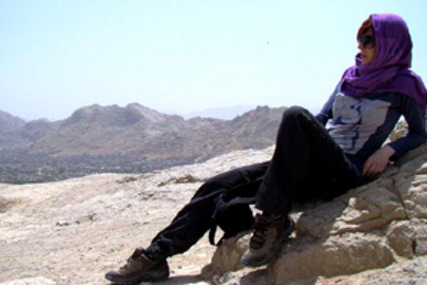 Oddych po výstupe na jednu z iránskych hôr.