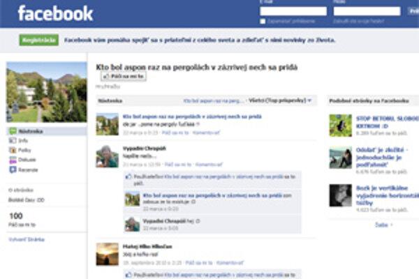 Na Facebooku sa dajú nájsť politici, obce, kuriózne skupiny ľudí.