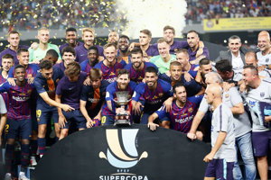 Hráči Barcelony získali španielsky Superpohár.