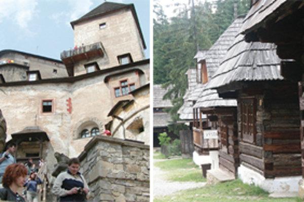 Oravský hrad a Múzeum oravskej dediny