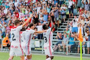 Trenčianska radosť po prvom zápase.