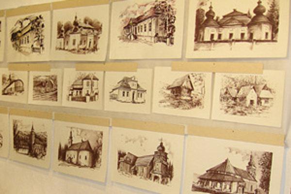 Kresby Hieronýma Balka na výstave v Múzeu oravskej dediny.