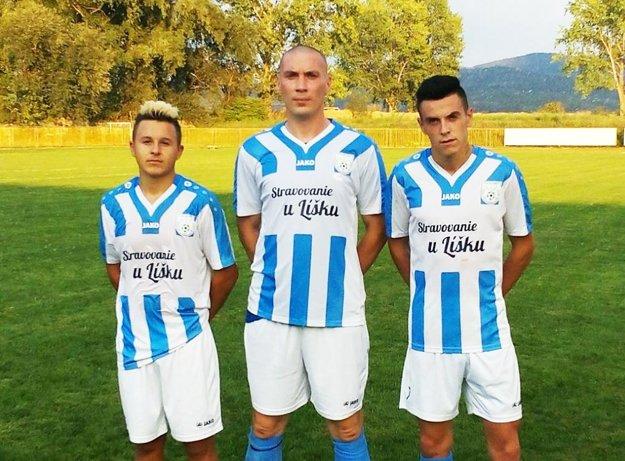 Strelci gólov za Zbehy - zľava P. Mikula, M. Kopec a M. Mikula.
