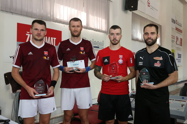 Superfinalisti ŽP CUP 2018: Vilmoš Zavarko, Daniel Tepša, Erik Kuna, Zsombor Zapletán.