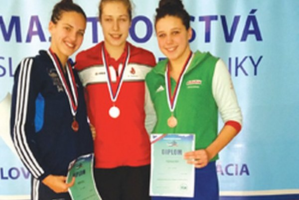Andrea Podmaníková (v strede).